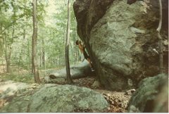 "Rock Climbing Photo: ""Tall"" Ed Sewall on an early ascent (may..."