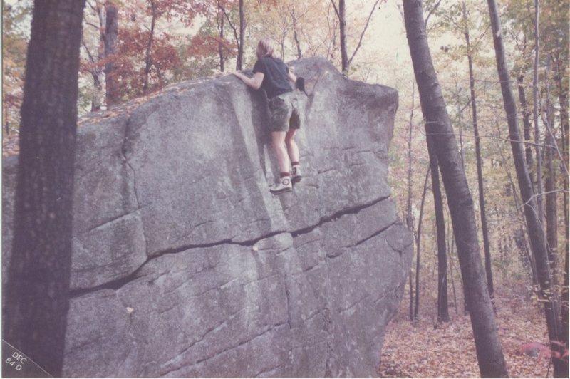 Climbing on Ship's Prow circa 1984