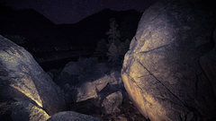 Rock Climbing Photo: Bootlegger Bouldering Area night photo.