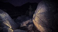 Rock Climbing Photo: Bootlegger Bouldering Area night photo.