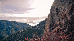 Rock Climbing Photo: Jake Reaves climbing starting the first pitch of t...