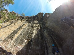 "Rock Climbing Photo: View of ""The Painted Wall"" with climbers..."