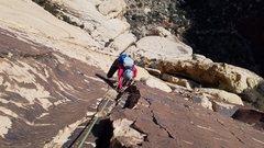 Rock Climbing Photo: Solar Slab - wohoo patina!