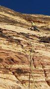 Rock Climbing Photo: Pitch 4 - a bit wandering, just follow the chalk m...