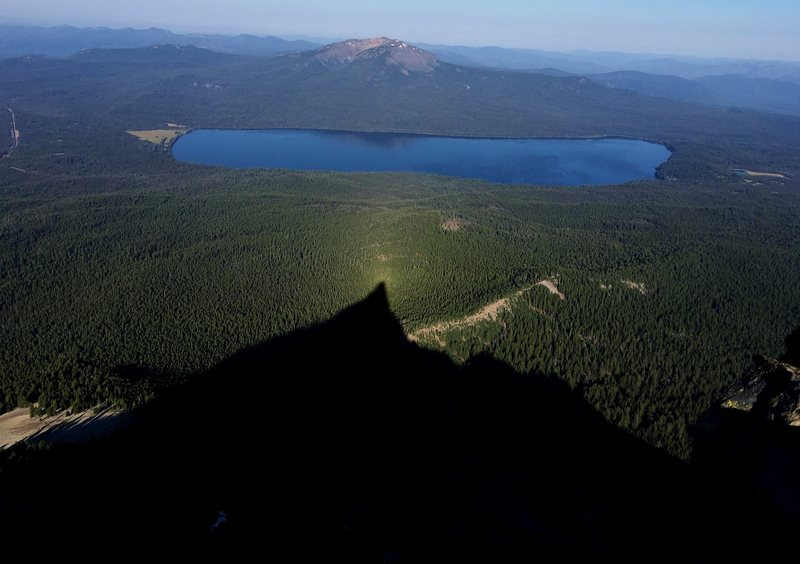 View of Diamond Lake and Mount Bailey from the summit.