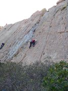 Rock Climbing Photo: Climber on Route #7.
