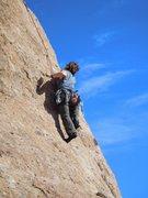 Rock Climbing Photo: Cruising up Slotterhouse.