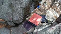 Rock Climbing Photo: Eyeing the finish of the cool variation Jesus Hate...