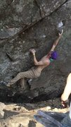 Rock Climbing Photo: Working the start of Separate but Equal.