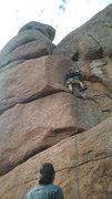 "Rock Climbing Photo: Working my way up the short but fun ""After Lu..."