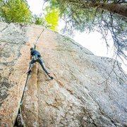 Rock Climbing Photo: Jérôme on the second ascent