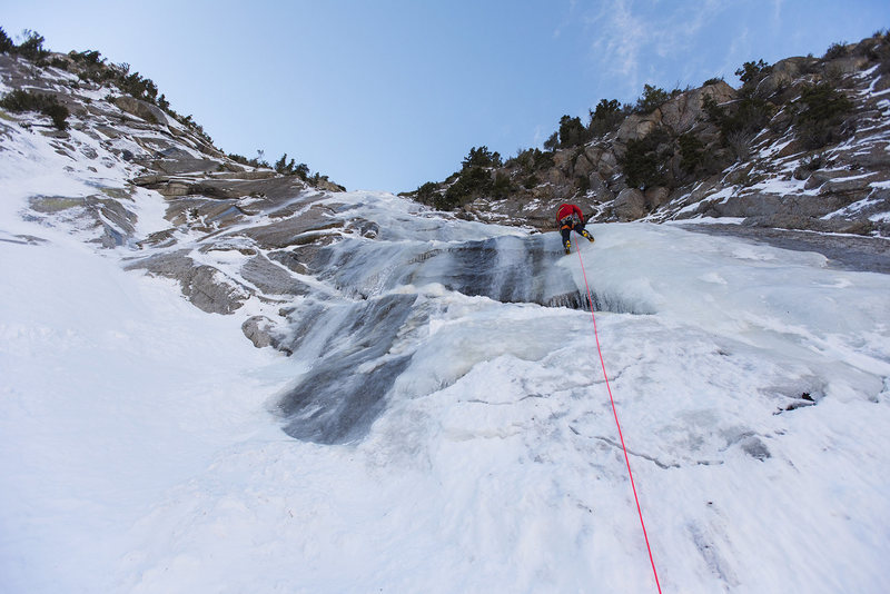 Rock Climbing Photo: Perla's Ridge Ice. WI3. 2.16.17