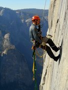 Rock Climbing Photo: Be aware of loose rock at the top of the PO Wall