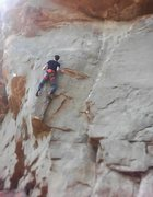 Rock Climbing Photo: In the midst of the crux