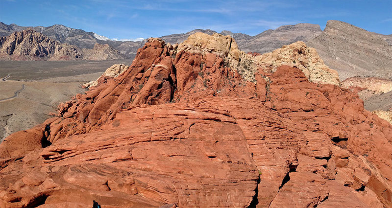 looking North from Red Book Point <br> ... to ...<br> Calico Peak, Tank Peak, Turtlehead<br>