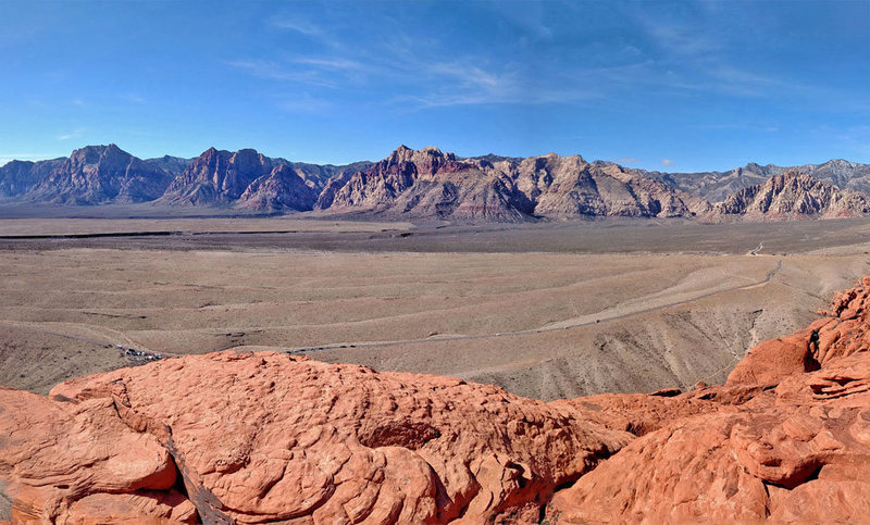 looking West from Red Book Point<br> across Red Rock canyon<br>
