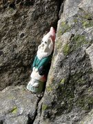 Rock Climbing Photo: Gnome belay at end of first pitch