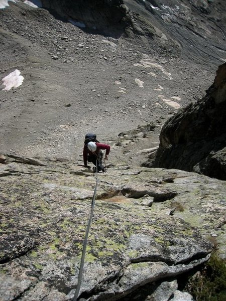 Rock Climbing Photo: Coming up p3 of Voie du Nain
