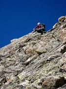Rock Climbing Photo: Last pitch of Voie du Nain