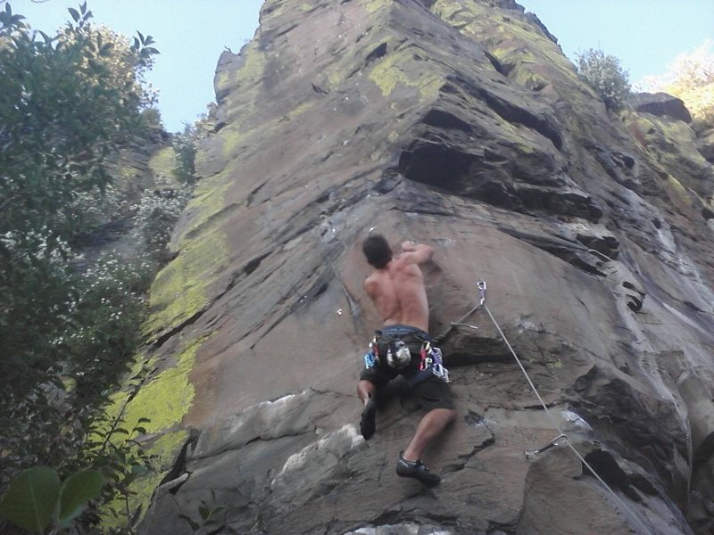 Rock Climbing Photo: Pulling into the crux