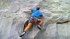 Rock Climbing Photo: One of the many ways to pass the second bolt.