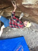 Rock Climbing Photo: Working the V5