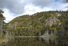 Rock Climbing Photo: The cliffs around Washbowl Pond.