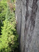 Rock Climbing Photo: Climber on It's About Time (11b), Future Wall.