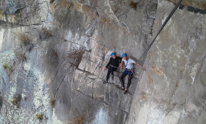 "Rock Climbing Photo: First pitch of ""El Espolón de la Diagonal&qu..."