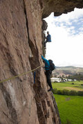 "Rock Climbing Photo: The traverse on the first pitch of ""El Espol�..."
