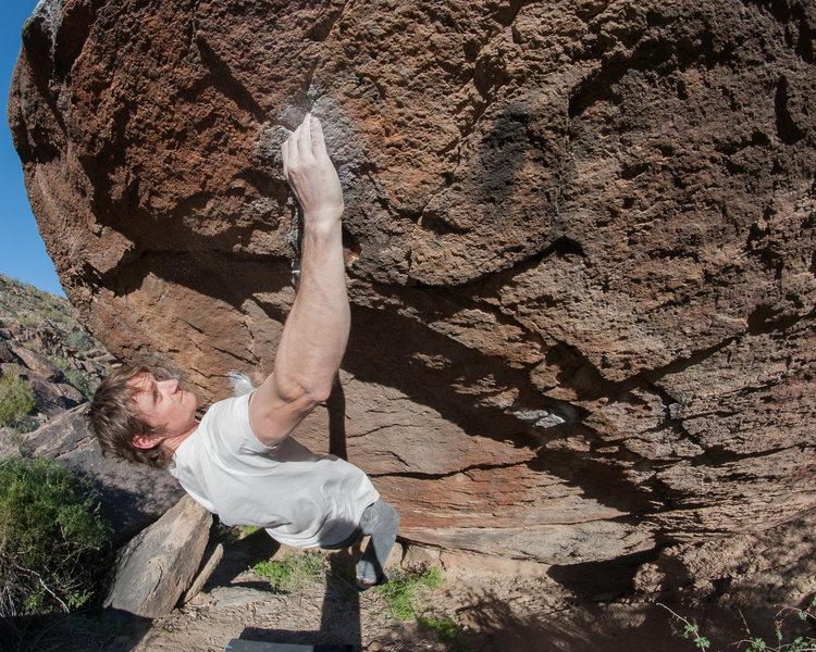Climber: Ryan Borys<br> Mini Slashface V9 <br> Photo: Anthony Tellez