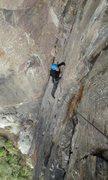 "Rock Climbing Photo: ""La Placa del Pana"" 5.9"