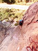 """Rock Climbing Photo: """"Después de los 35"""". Second pitch. 5.9"""