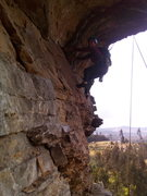 """Rock Climbing Photo: Starting the second pitch of """"LP"""". 5.8"""