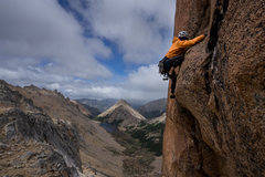 Rock Climbing Photo: Peter just above the roof crux on Wackford Squeers...