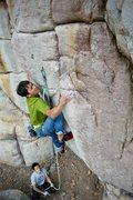Rock Climbing Photo: Fen Yuan Trap 12a at First Cave
