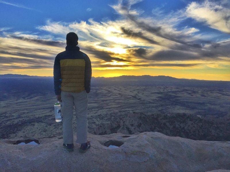 Rock Climbing Photo: sunset after Ewephoria