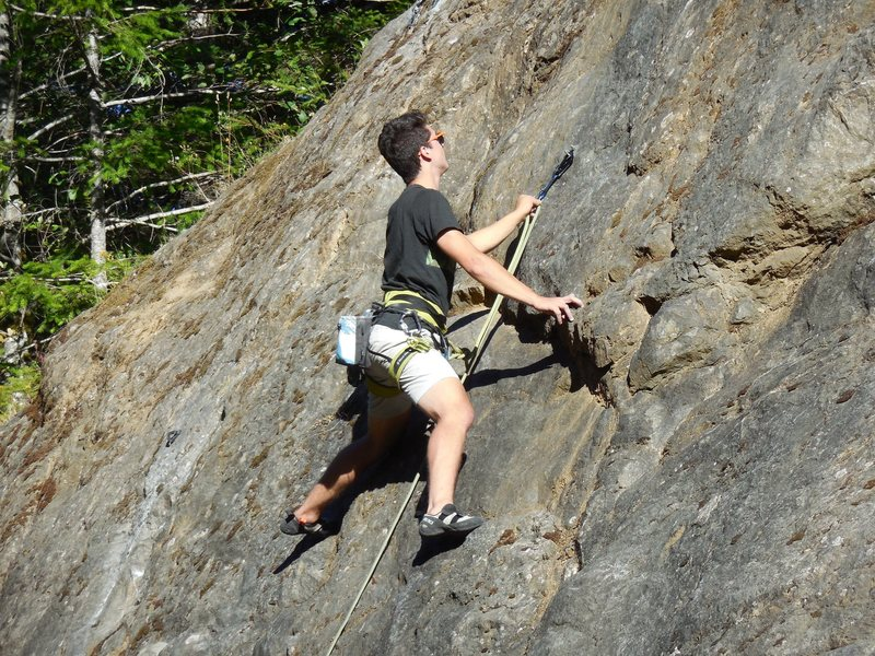 Rock Climbing Photo: Connor showing his friends how to sport climb on O...