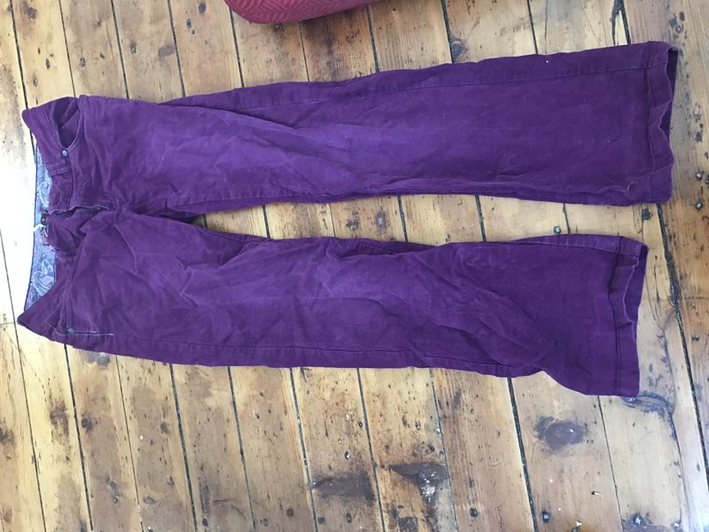 Prana pants... less of a Barney purple in real life