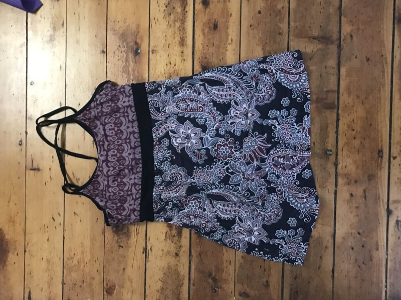 Prana tank w/shelf bra
