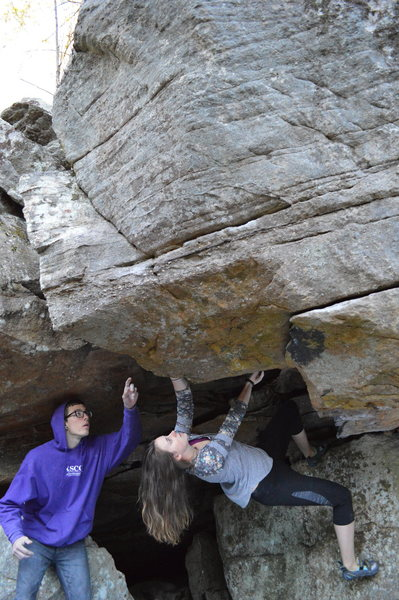 """Sarene Cullen climbing out of """"Down for the Cause"""""""