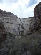 Rock Climbing Photo: This line has changed over time. As the small edge...