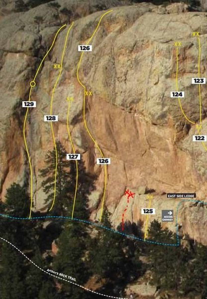 Rock Climbing Photo: Unknown route just to the left of 125.