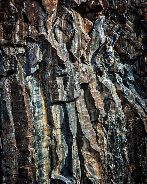 Rock Climbing Photo: Paul Knill on Feel the Bern.  PC: Julien Havac