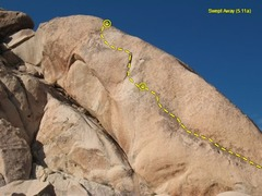 Rock Climbing Photo: Swept Away (5.11a), Joshua Tree NP