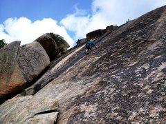 Rock Climbing Photo: Jiminey Cricket...its Carol gettin' some milea...