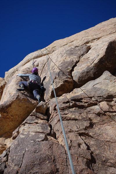 Rock Climbing Photo: Joan following on Amanda.