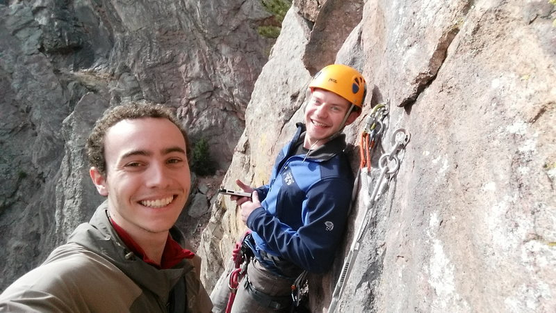Rock Climbing Photo: Top of the first pitch of Calypso.