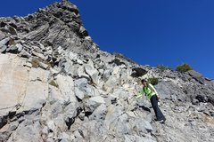 Rock Climbing Photo: Mt Thielsen summit climb