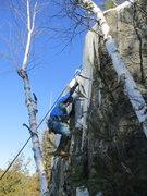 Rock Climbing Photo: Mark on the FA